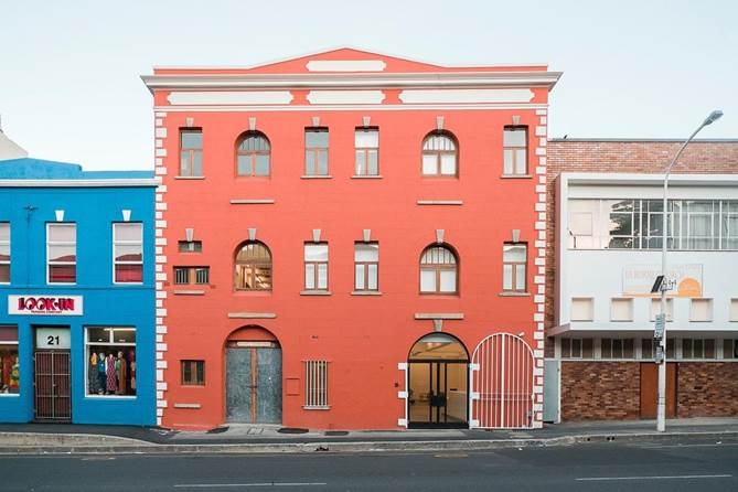 The new gallery and project space (middle) is situated at 23  Buitenkant Street
