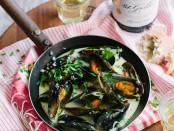 Spier 21 Gables Chenin Blanc + West Coast mussels (HR)