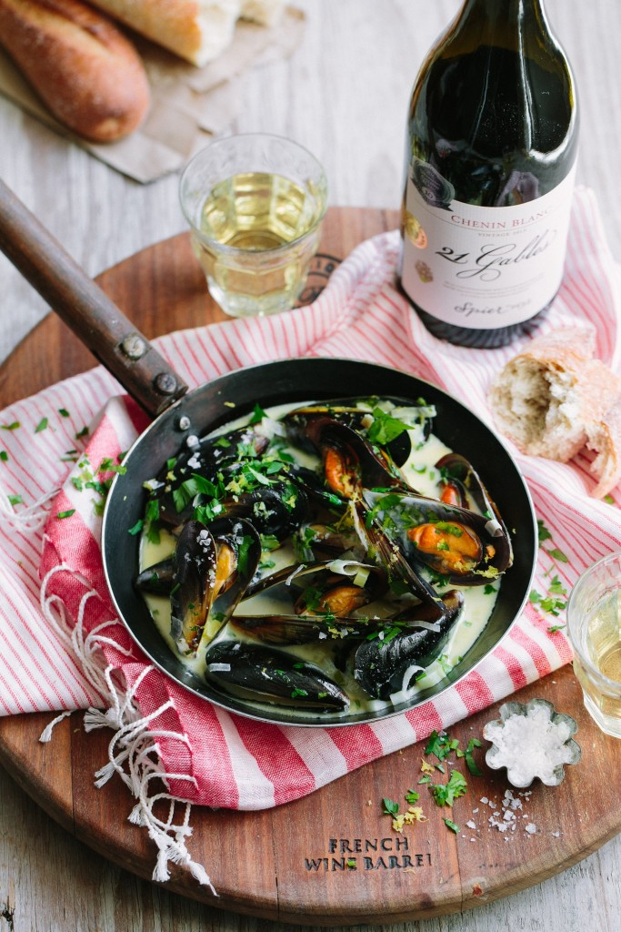 Spier 21 Gables Chenin Blanc + West Coast mussels (HR)