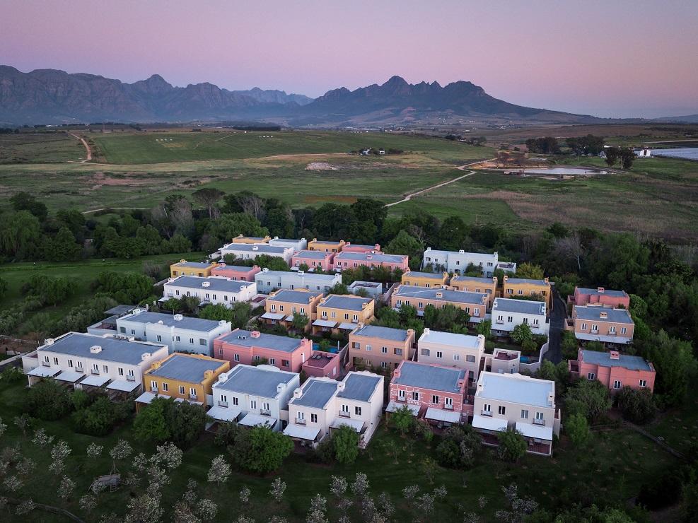 Spier Hotel - Aerial Sunset 45 (LR)