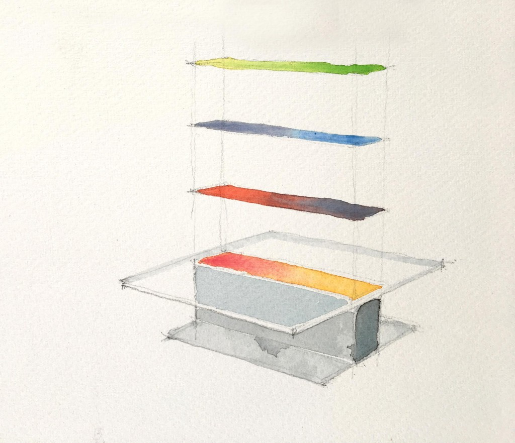 Colour Field lowres. Image courtesy of Southern Guild. Studio August_Study for Colour Plane table