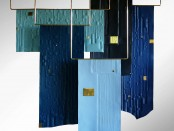 Trapeze Blue by Xavier Clarisse will be among a colourful array of collectible design to see at Colour Field. Trapeze Blue is a series of five hanging, embossed leather screens resembling planes of colour in space.