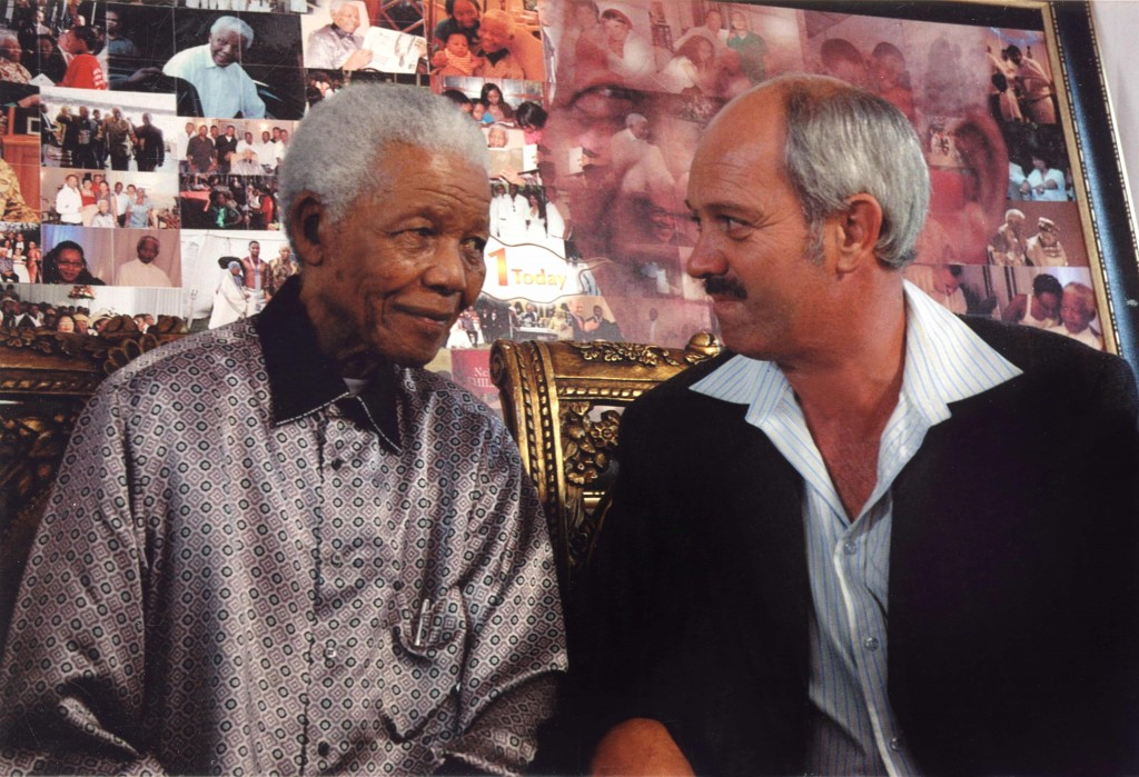 Nelson Mandela with Christo Brand 2