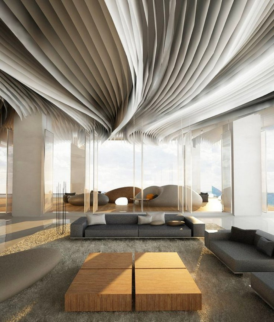 even-fabric-stripes-could-be-used-to-decorate-a-ceiling