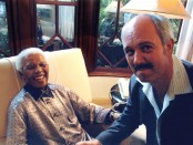Nelson Mandela with Christo Brand 1