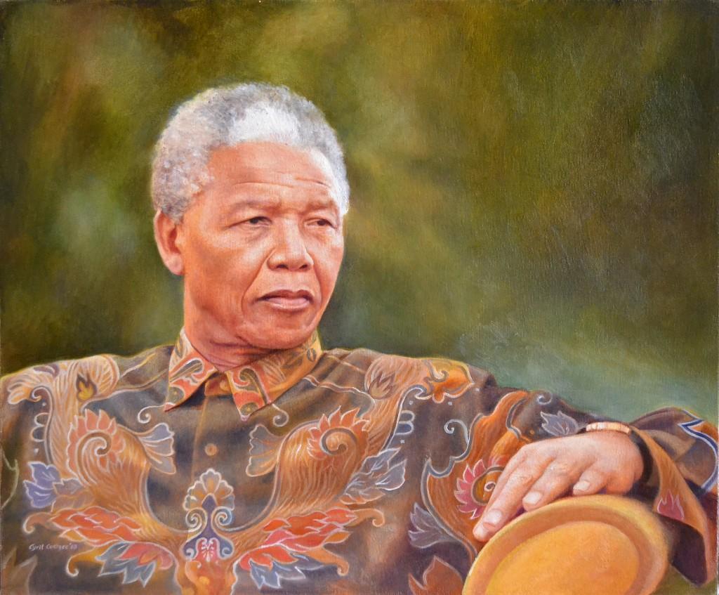 Nelson Mandela Oil Painting by Cyril Coetzee Portrait Artist