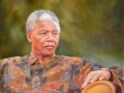 Nelson Mandela Oil Painting by Cyril Coetzee Portrait Artist