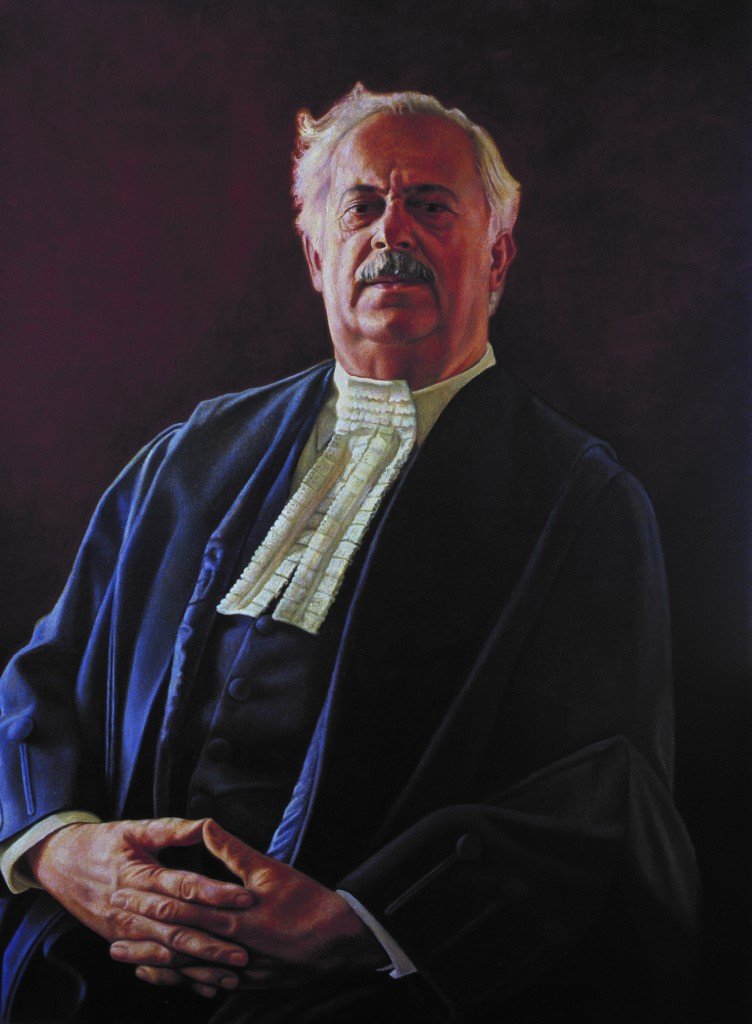 Oil Painting of Adv. G. Bizos - Nelson Mandela's Defense Laywer at the Rivonia Trial - by Cyril Coetzee Portrait Artist