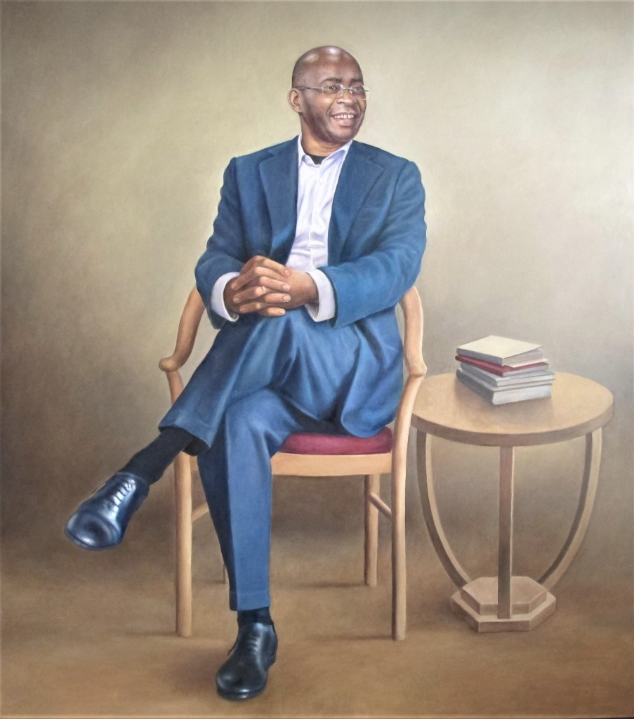 Oil Painting of Mr. S. Masiyiwa - African Union COVID Special Envoy - by Cyril Coetzee Portrait Artist