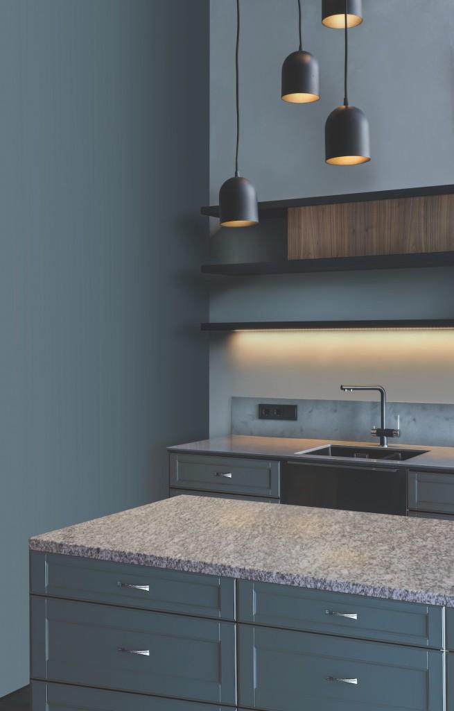 Minimalist contemporary interior kitchen